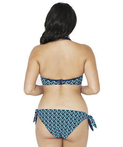 Curvy Kate Wanderlust Plunge Bikini Top - Blue Mix - Model - Back