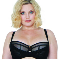 Scantilly Peek-A-Boo Lace Bra - Black