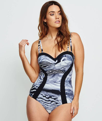 Robyn Lawley Bella Notte D/DD Cup One Piece - Black Sea Swim 10