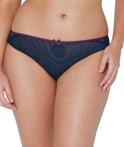 Curvy Kate Ellace Brazilian - Navy/Wine - Front