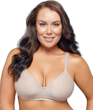 Playtex Comfort Revolution Swirl Wirefree Bra - Warm Steel