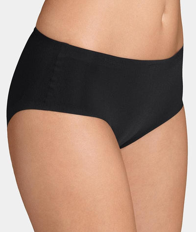 Triumph Sloggi Invisible Supreme Midi Brief - Black - Front View