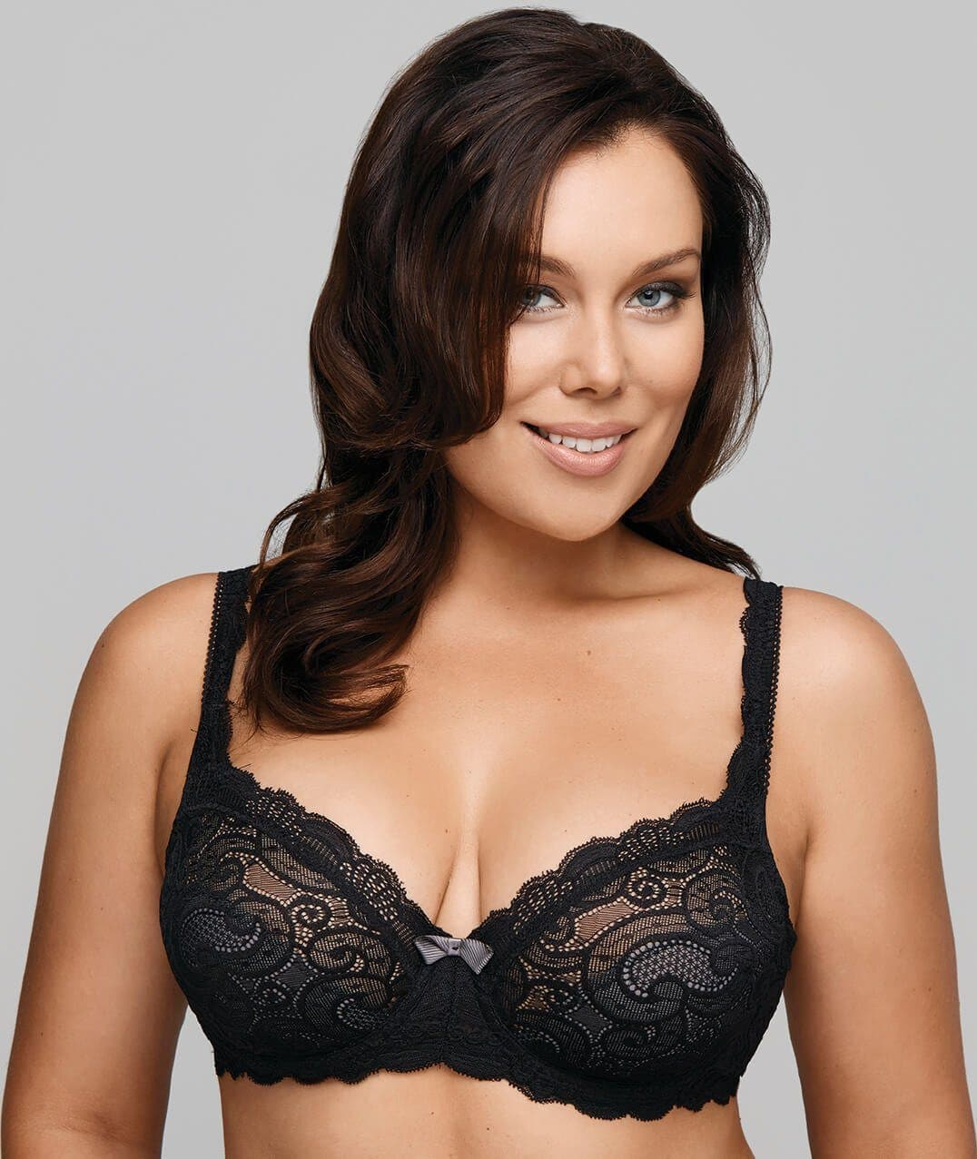 a320999eeebda Playtex Beautiful Lace & Lift Underwire Bra - Black - Curvy