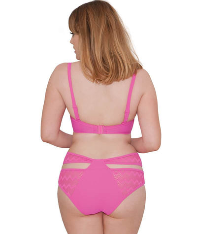 "Curvy Kate Hi Voltage Padded Balcony Bikini - Shocking Pink ""Back"""