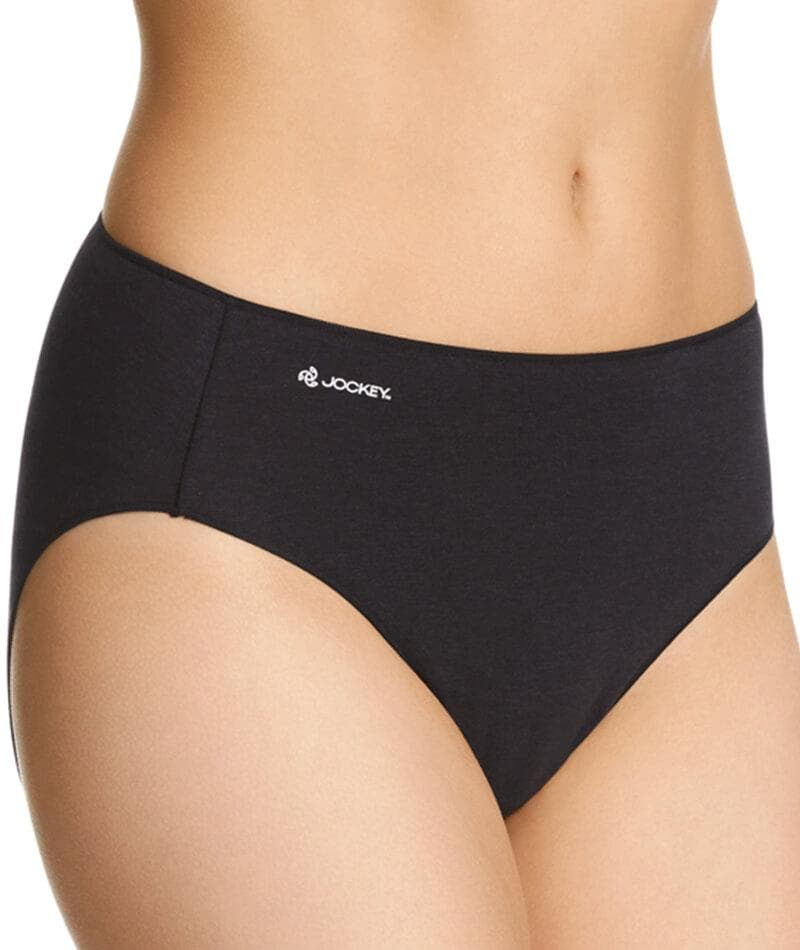 Jockey No Panty Line Promise Bamboo Naturals Hi Cut Brief - Black