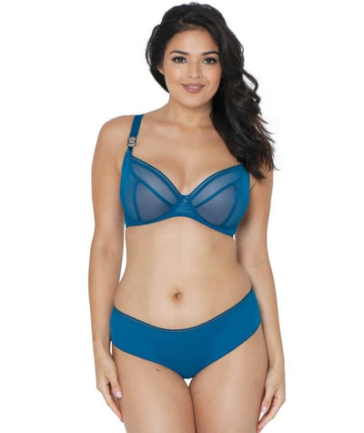Curvy Kate Lifestyle Plunge Bra - Petrol - Model - Front