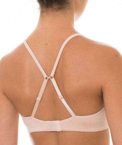 Triumph Gorgeous Soft Wire-free T-Shirt Bra - Beige - Crossover - Back