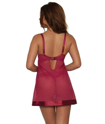 Curvy Kate Bardot Babydoll- Berry/Copper