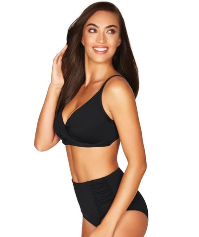 Sea Level Essentials Twist Front DD-E Cup Bikini Top - Black Swim