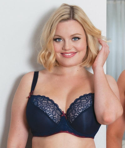 Curvy Kate Ellace Balcony Bra - Navy/Wine - Model - 2