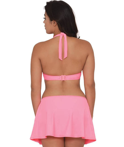 "Curvy Kate Jetty Swim Skirt - Flamingo ""Back"""
