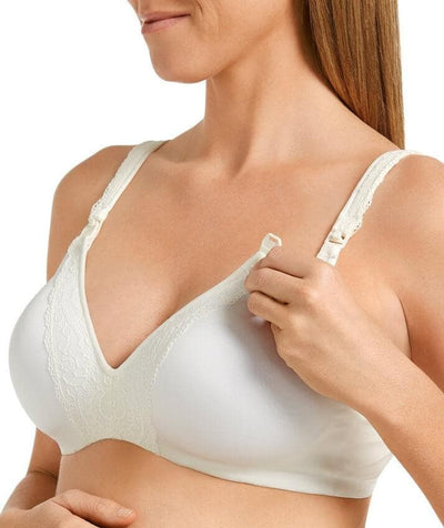 Berlei Barely There Deluxe Maternity Bra - Ivory - Side