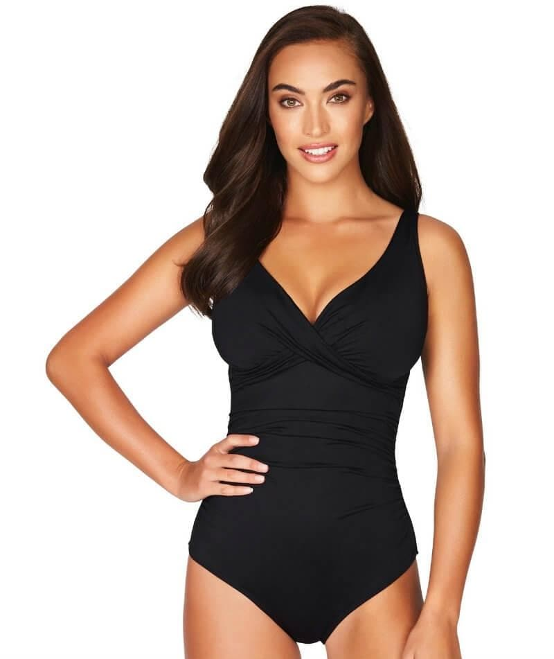 058034f5be9 Sea Level Essentials Cross Front B-DD Cup One Piece Swimsuit - Black