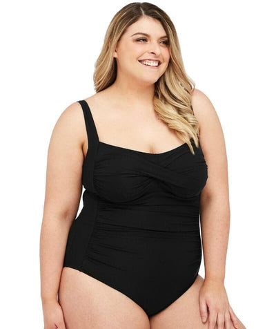 Artesands Botticelli Twist Front Underwire D-DD Cup One Piece Swimsuit - Black - Side