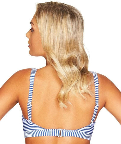 Sea Level Sorrento Stripe Square Neck A-D Cup Bikini Top - French Blue Swim