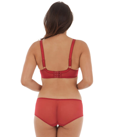 Curvy Kate Bridget Balcony Bra - Garnet - Model - Back