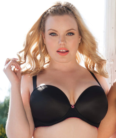 Curvy Kate Smoothie Soul Plunge Bra - Black - Front