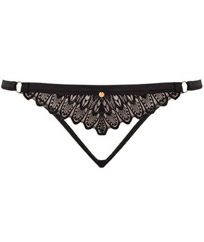 "Scantilly Lavish Thong - Black ""front"""
