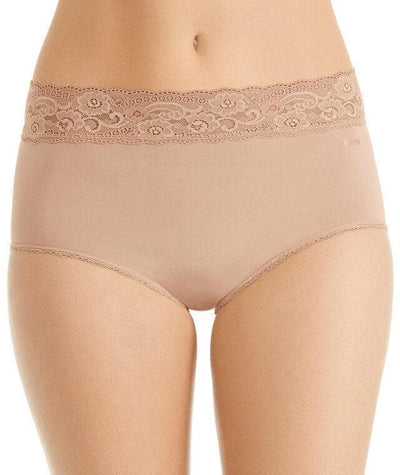 Berlei Barely There Deluxe Full Brief - Nude Lace - Front