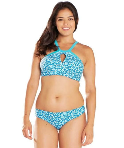 Curvy Kate Riptide Mini Brief - Blue Print - Model - Front - 2