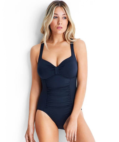 Seafolly DD to F Cup Halter Maillot One Piece - Indigo Swim 10