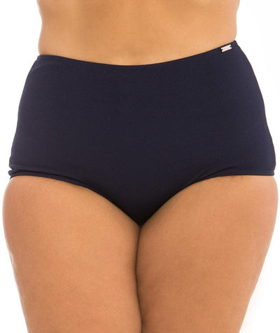 Capriosca Chlorine Resistant High Waisted Pant - Navy Swim 10