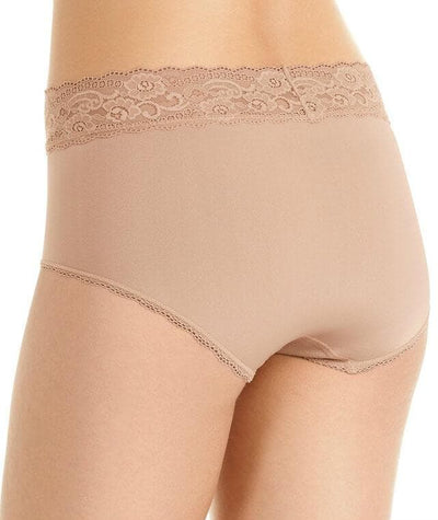 Berlei Barely There Deluxe Full Brief - Nude Lace - Back