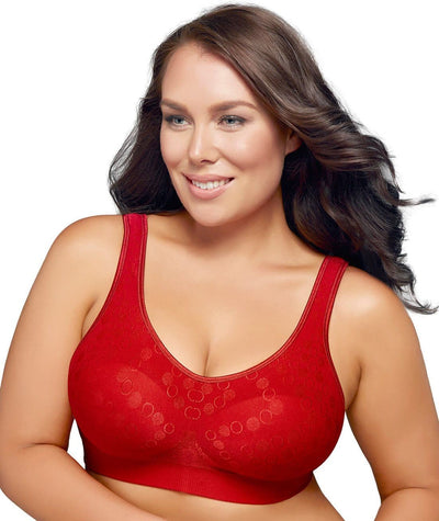 Playtex Comfort Revolution Dot Wire Free Bra -Armature Red
