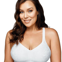 Playtex Comfort Flex Fit Jaquard Seamless Bra - White Zebra