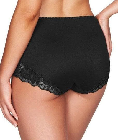 Fayreform Lounging Lace Midi Brief - Black Knickers
