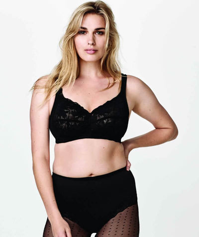 Fayreform Lounging Lace Wirefree Bra - Black Bras