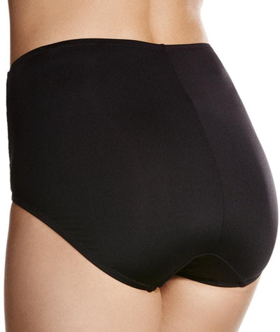 Jockey No Ride Up Microfibre and Lace Full Brief - Black Knickers