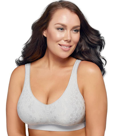 Playtex Comfort Revolution Dot Wire Free Bra - Crystal Grey Bras