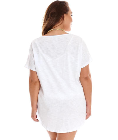 "Capriosca Turquoise Oversized T-Shirt ""back view"""