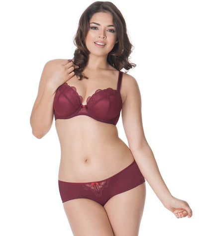 Curvy Kate Kitty Short - Merlot Knickers