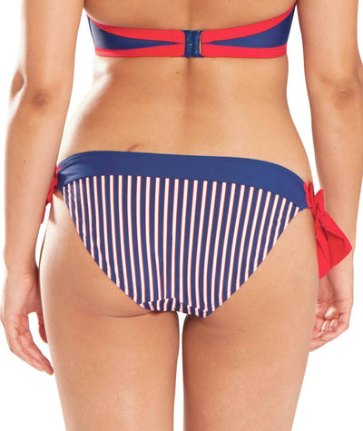 Curvy Kate Ahoy Tie Side Brief - Nautical Stripe Swim