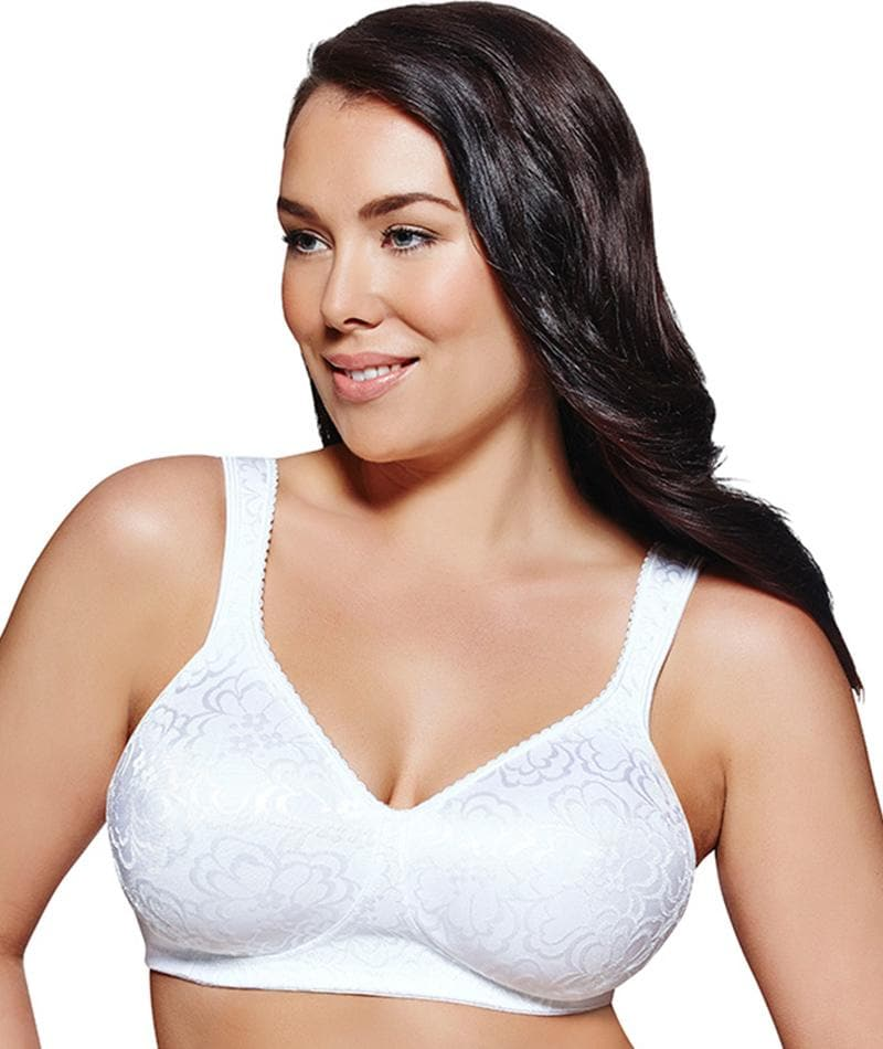 1563c6f302d Playtex 18 Hour Ultimate Lift   Support Wire-Free Bra - White - Curvy