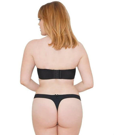 Curvy Kate Luxe Strapless Bra - Black - Model - Back