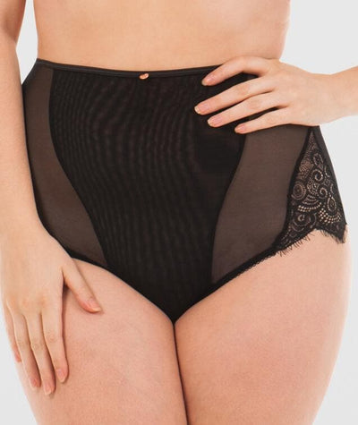 Scantilly Intoxicate High Waist Brief - Black Knickers L