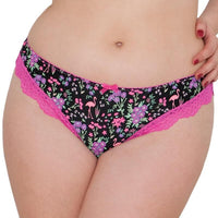 Curvy Kate Vegas Brazilian Brief-Black Print