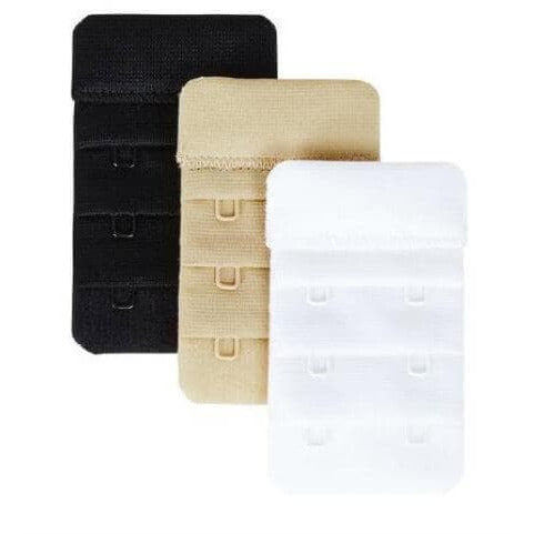 Image of 2-Hook Bra Back Extenders by Heidi Klum Solutions - Assorted Colours
