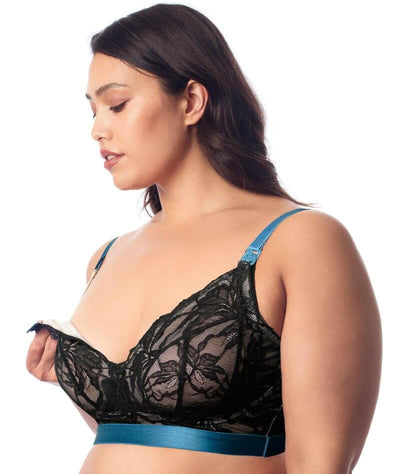 hotmilk Allure Nursing Bralette - Black