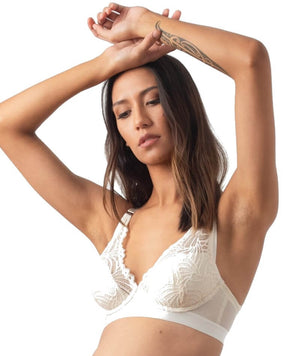 hotmilk Project Me Warrior Plunge Bra - Ivory Bras