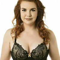 Lady Emprezz Rizzo Padded Shaping Bra - Black/Nude