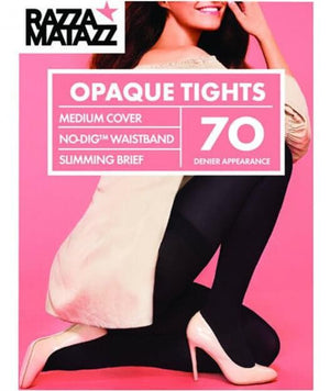 Razzamatazz 70D Opaque Tights Slimming Brief - Black Hosiery