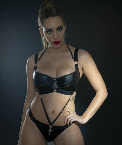 Scantilly Harnessed Thong - Black Knickers