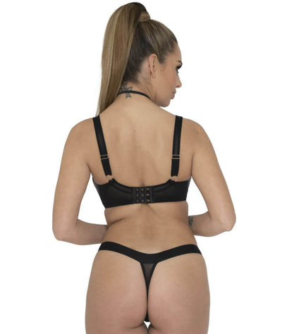 Scantilly Harnessed Padded Half Cup Bra - Black Bras