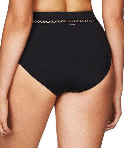 Sea Level Lola High Waist Bikini Brief - Black Swim