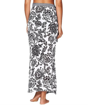 Sea Level Lotus Wrap Skirt - Black/White Swim