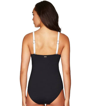 Sea Level Majorca Cross Front B-DD Cup One Piece Swimsuit - Black/White Swim
